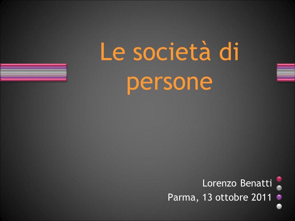 Lorenzo Benatti Parma, 13 ottobre 2011