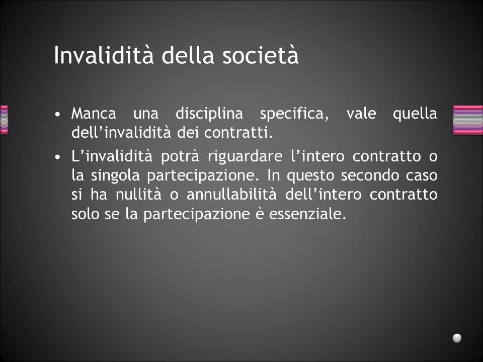 Invalidità della società