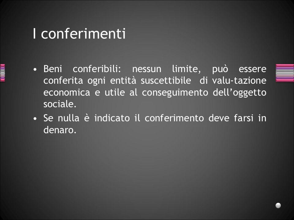 I conferimenti