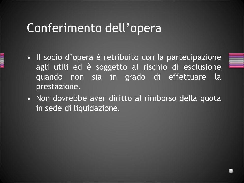 Conferimento dell'opera