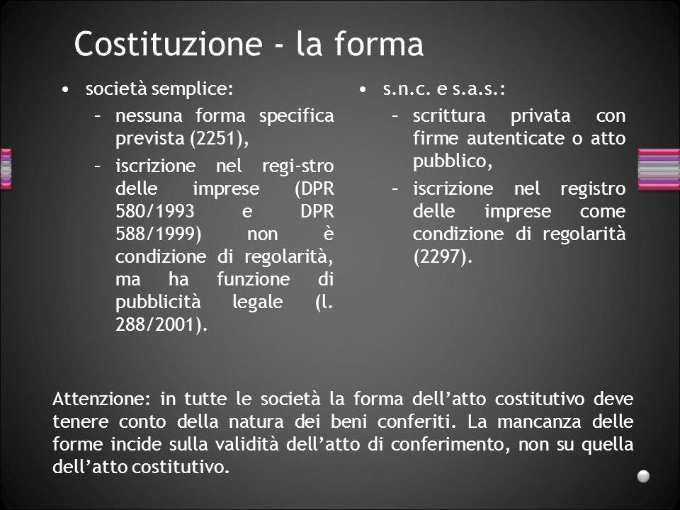 Costituzione - la forma