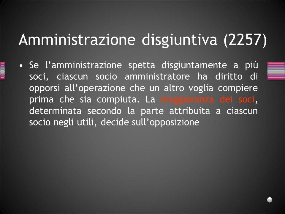 Amministrazione disgiuntiva (2257)