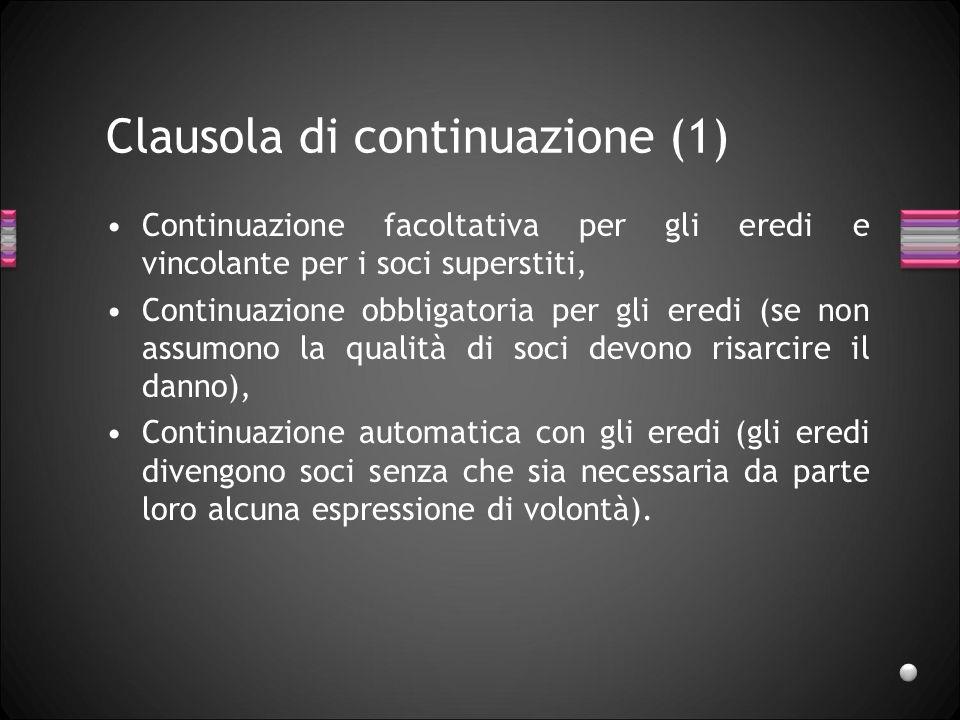Clausola di continuazione (1)