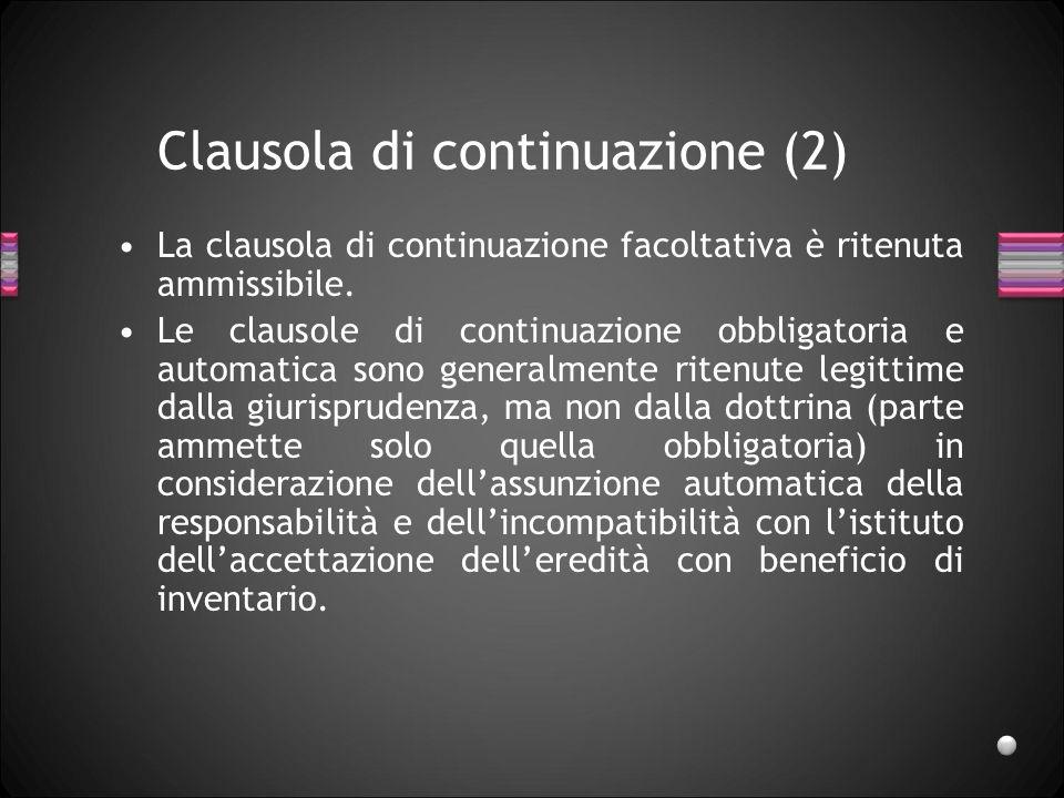 Clausola di continuazione (2)
