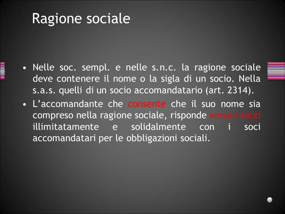 Ragione sociale