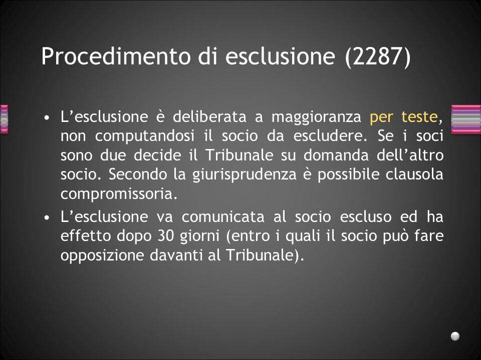 Procedimento di esclusione (2287)