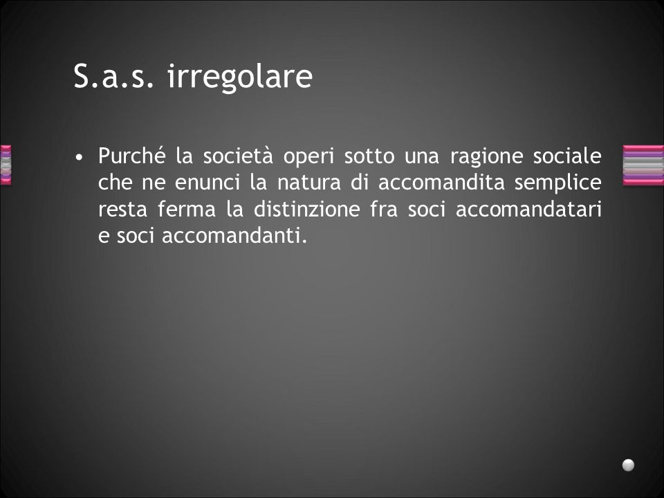 S.a.s. irregolare