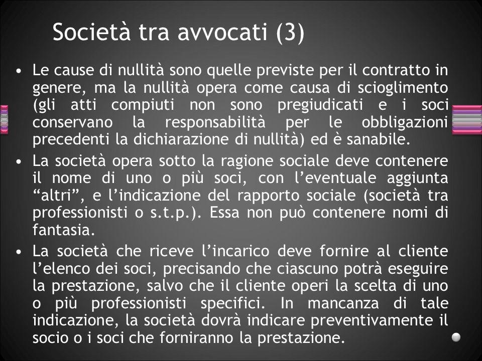 Società tra avvocati (3)