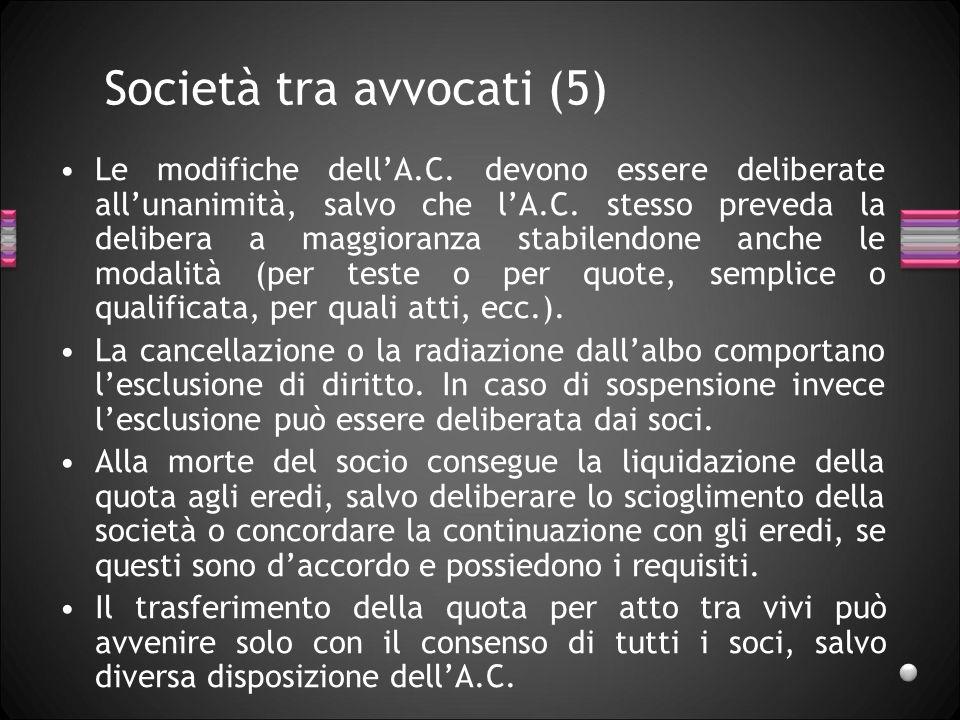 Società tra avvocati (5)
