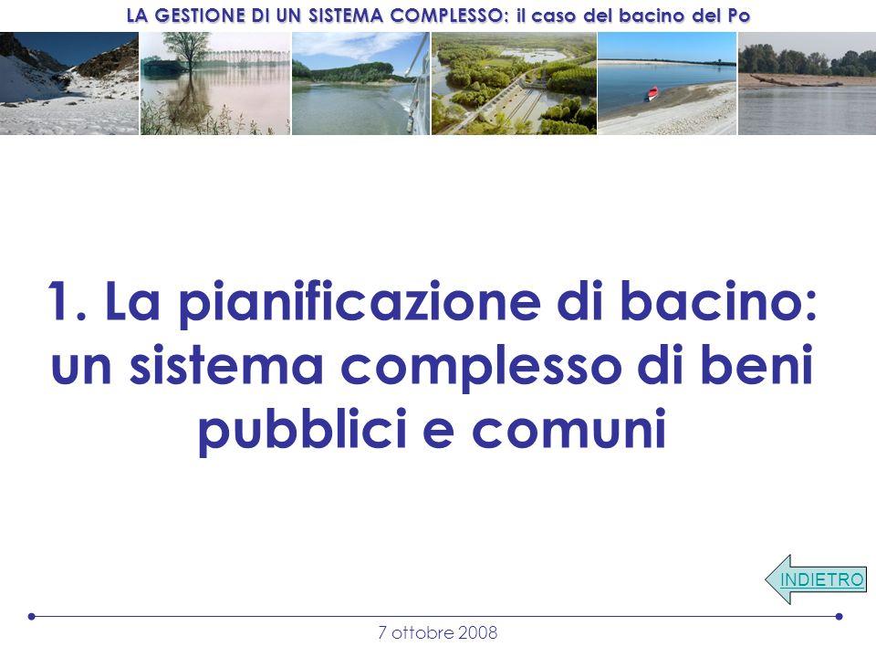 1. La pianificazione di bacino: un sistema complesso di beni pubblici e comuni
