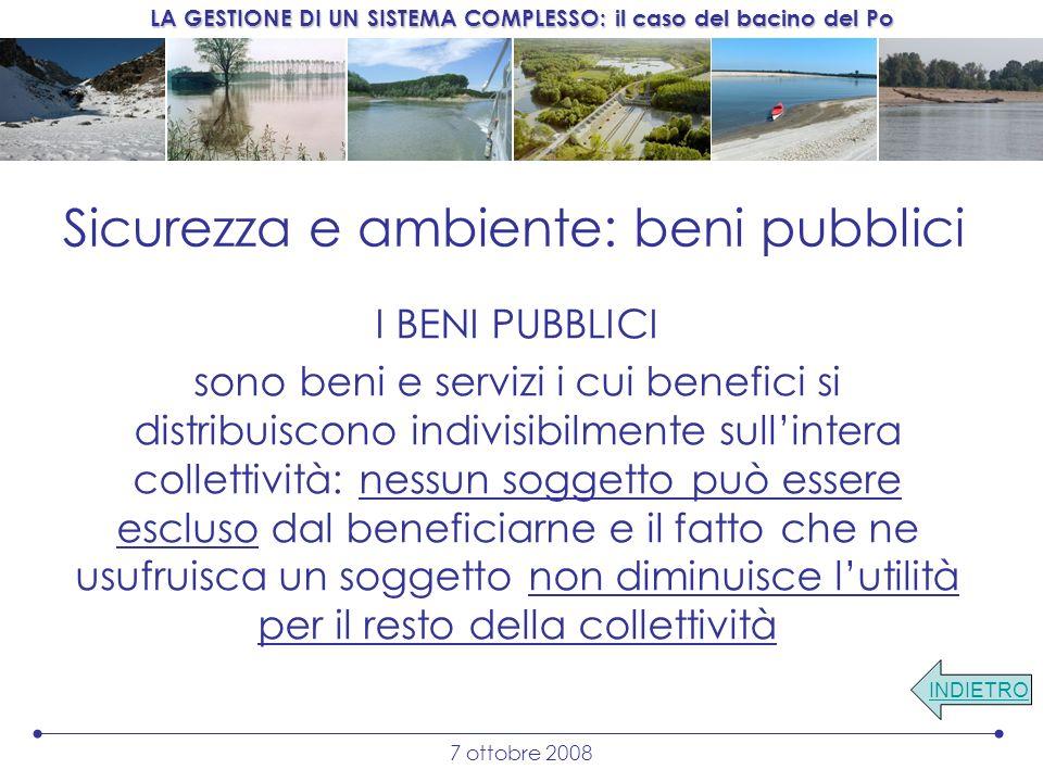 Sicurezza e ambiente: beni pubblici