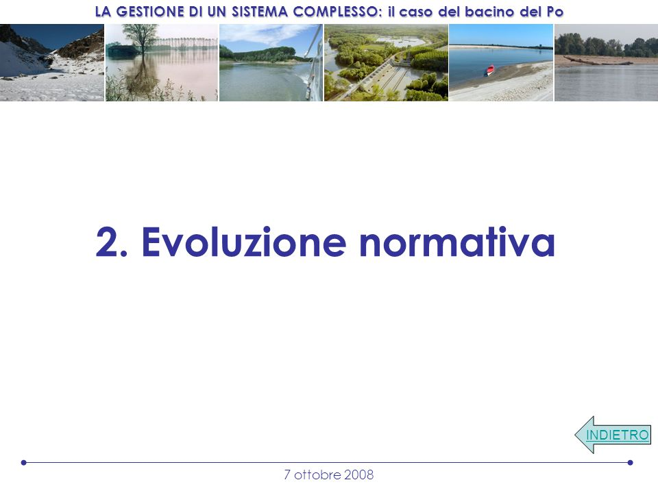 2. Evoluzione normativa INDIETRO