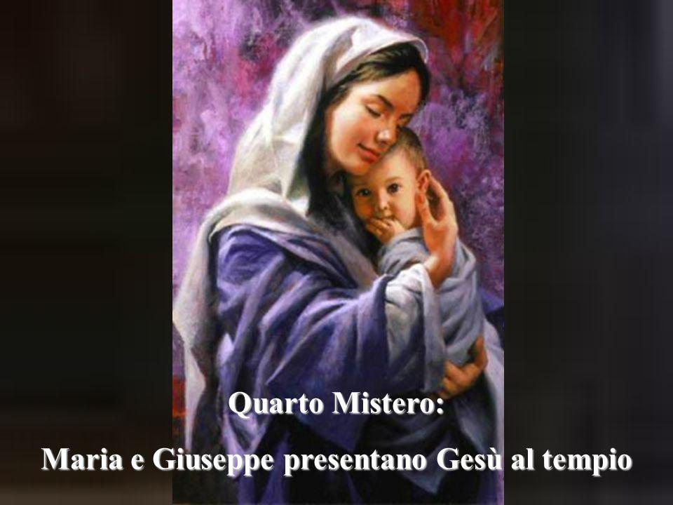 Maria e Giuseppe presentano Gesù al tempio