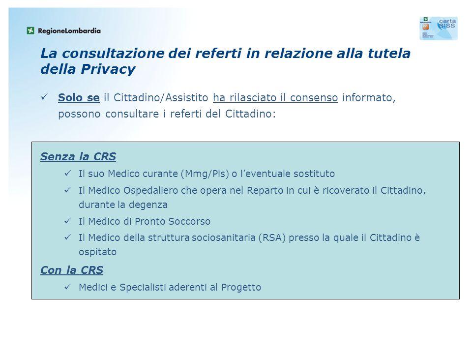 La consultazione dei referti in relazione alla tutela della Privacy