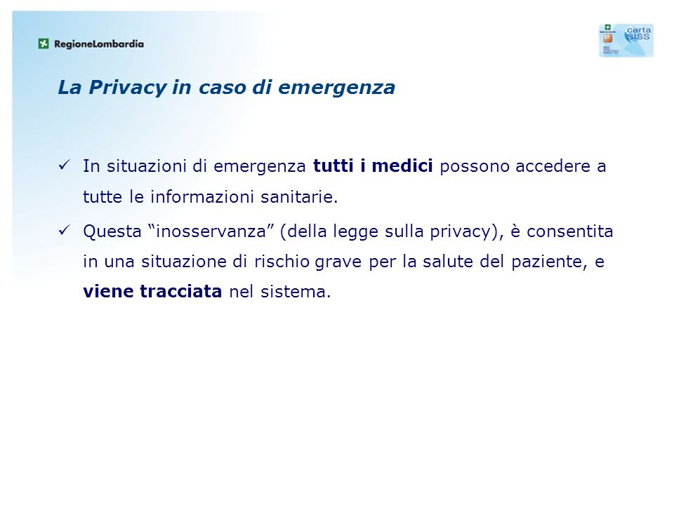La Privacy in caso di emergenza