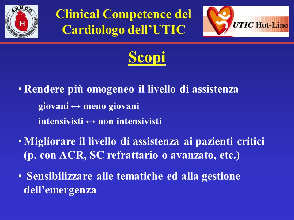 Clinical Competence del Cardiologo dell'UTIC
