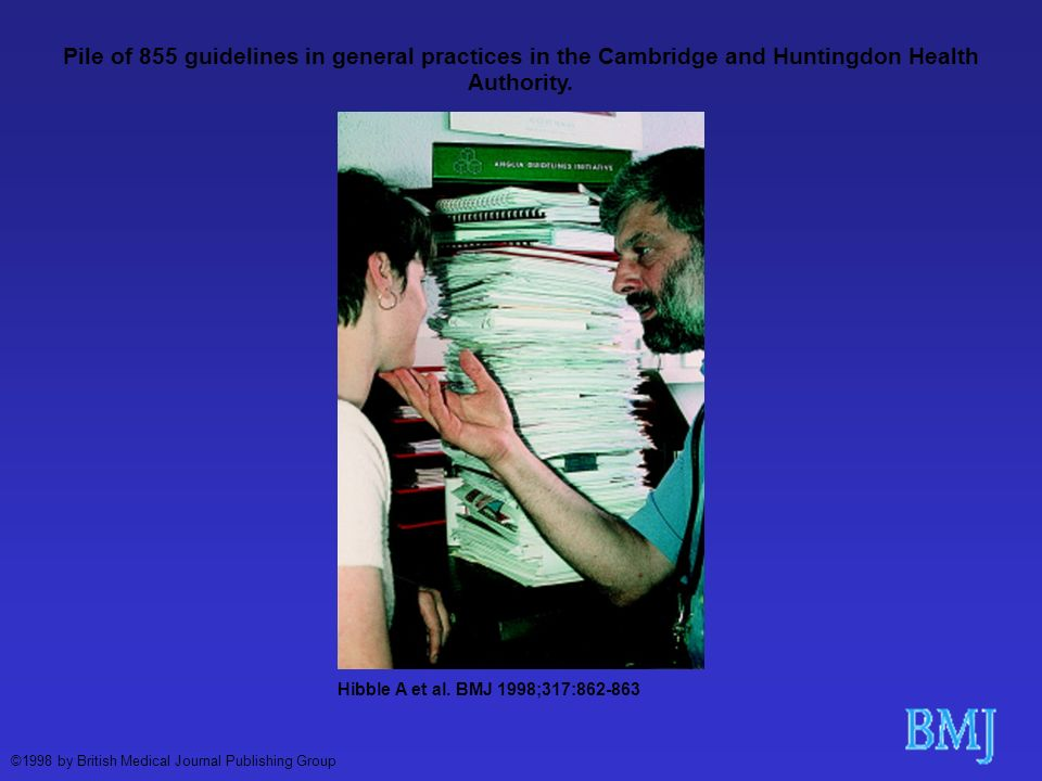 Pile of 855 guidelines in general practices in the Cambridge and Huntingdon Health Authority.