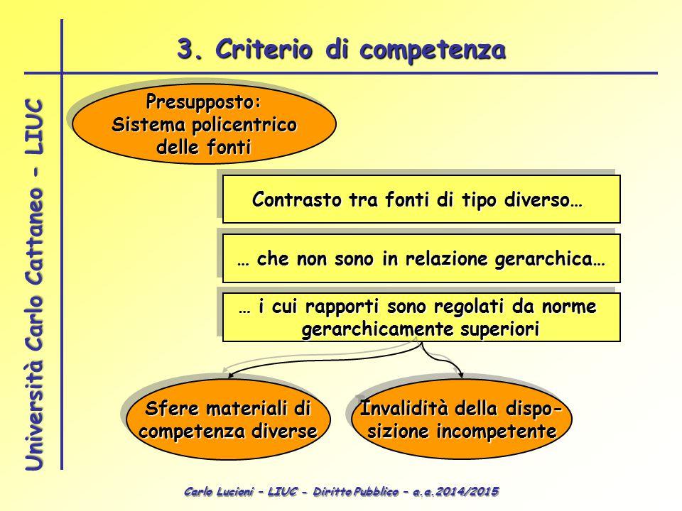 3. Criterio di competenza