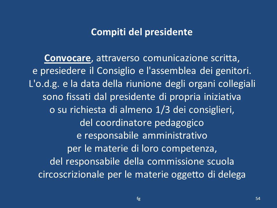 Compiti del presidente