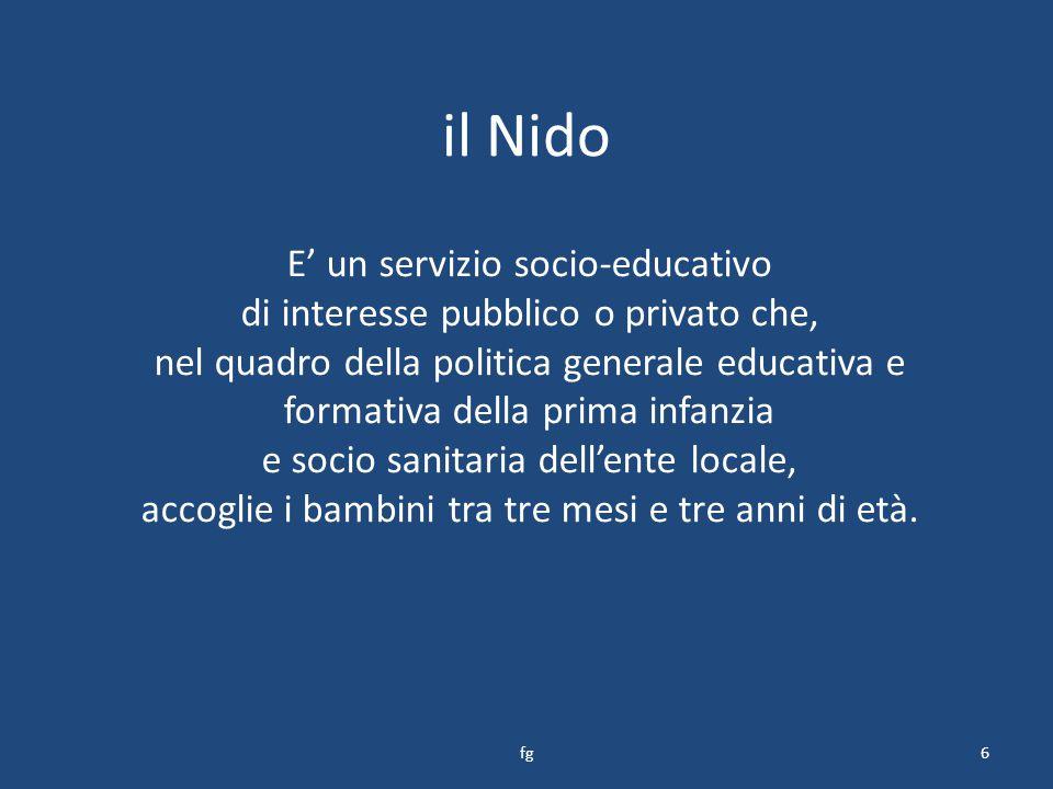 il Nido E' un servizio socio-educativo