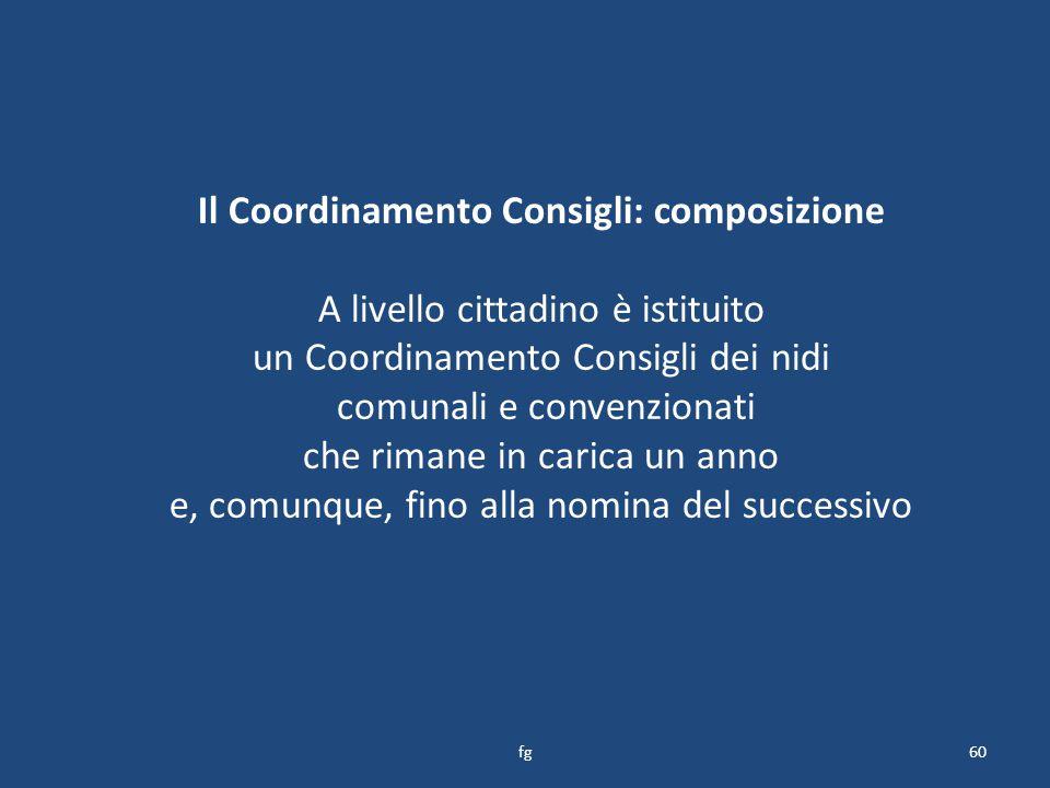 Il Coordinamento Consigli: composizione