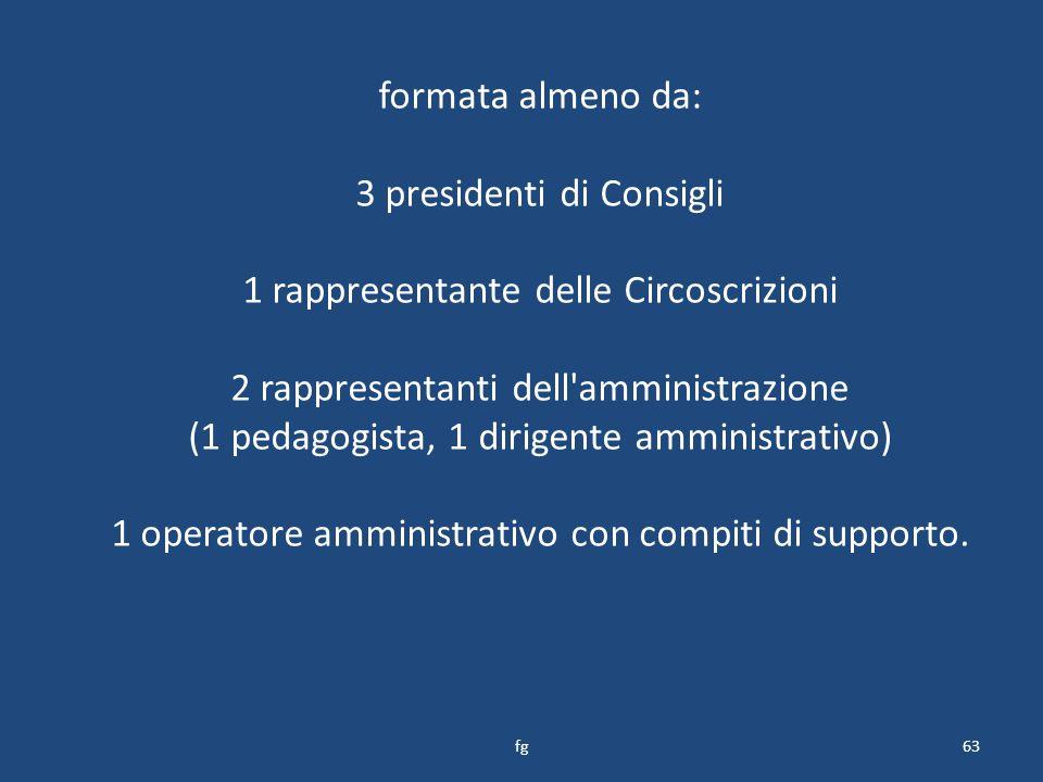 3 presidenti di Consigli 1 rappresentante delle Circoscrizioni