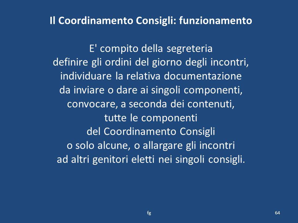 Il Coordinamento Consigli: funzionamento