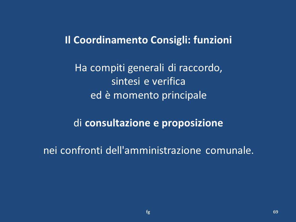 Il Coordinamento Consigli: funzioni