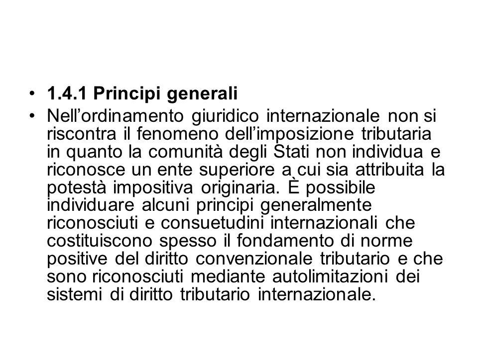 1.4.1 Principi generali