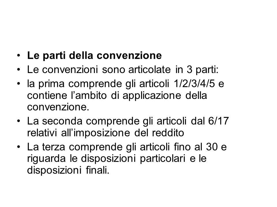 Le parti della convenzione