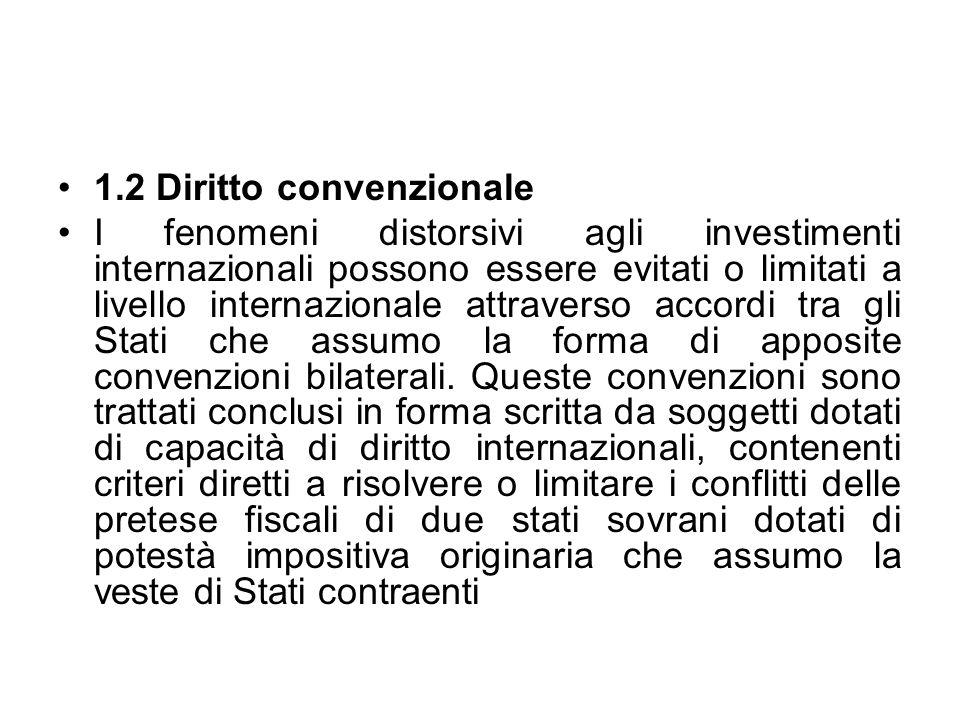 1.2 Diritto convenzionale