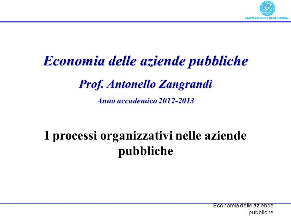 Economia delle aziende pubbliche