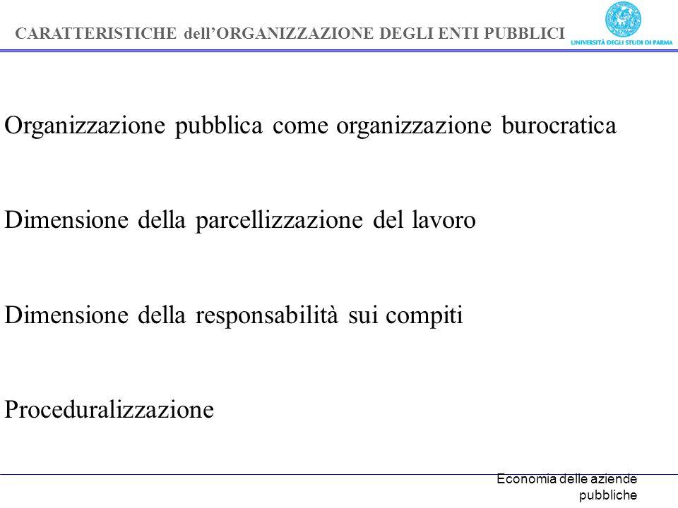 Organizzazione pubblica come organizzazione burocratica