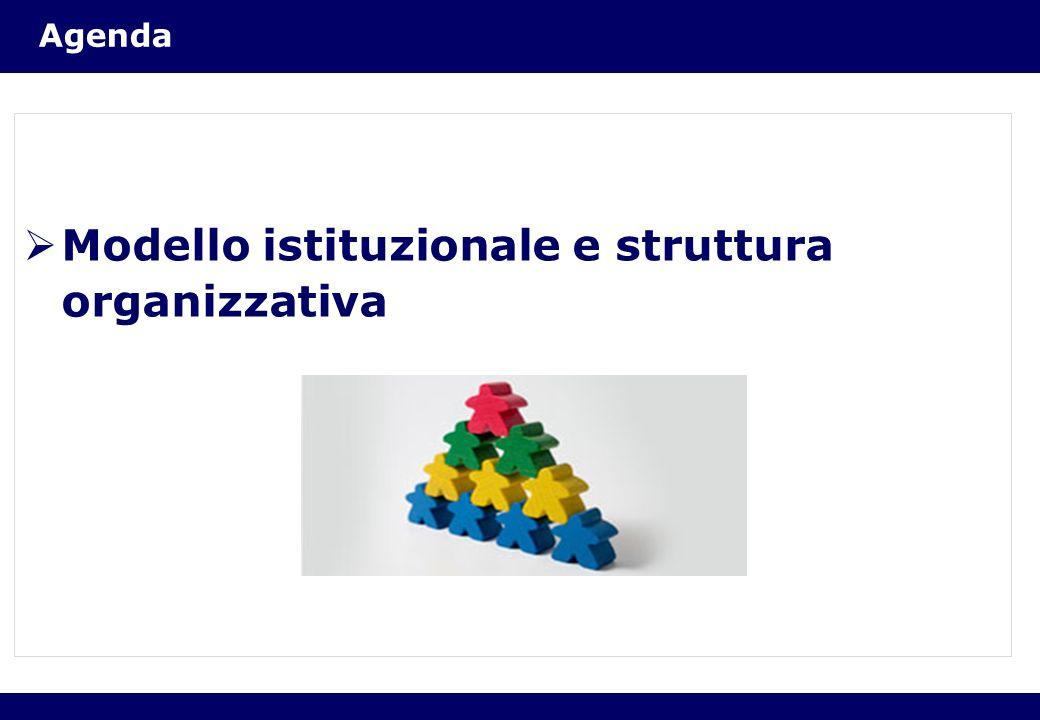 Modello istituzionale e struttura organizzativa