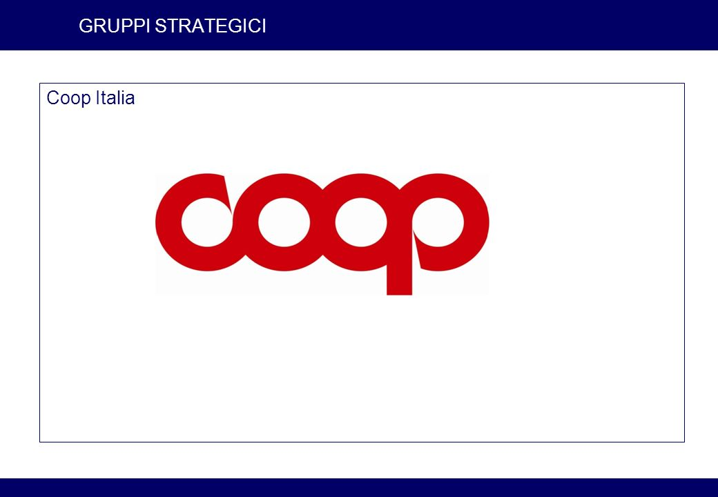GRUPPI STRATEGICI Coop Italia