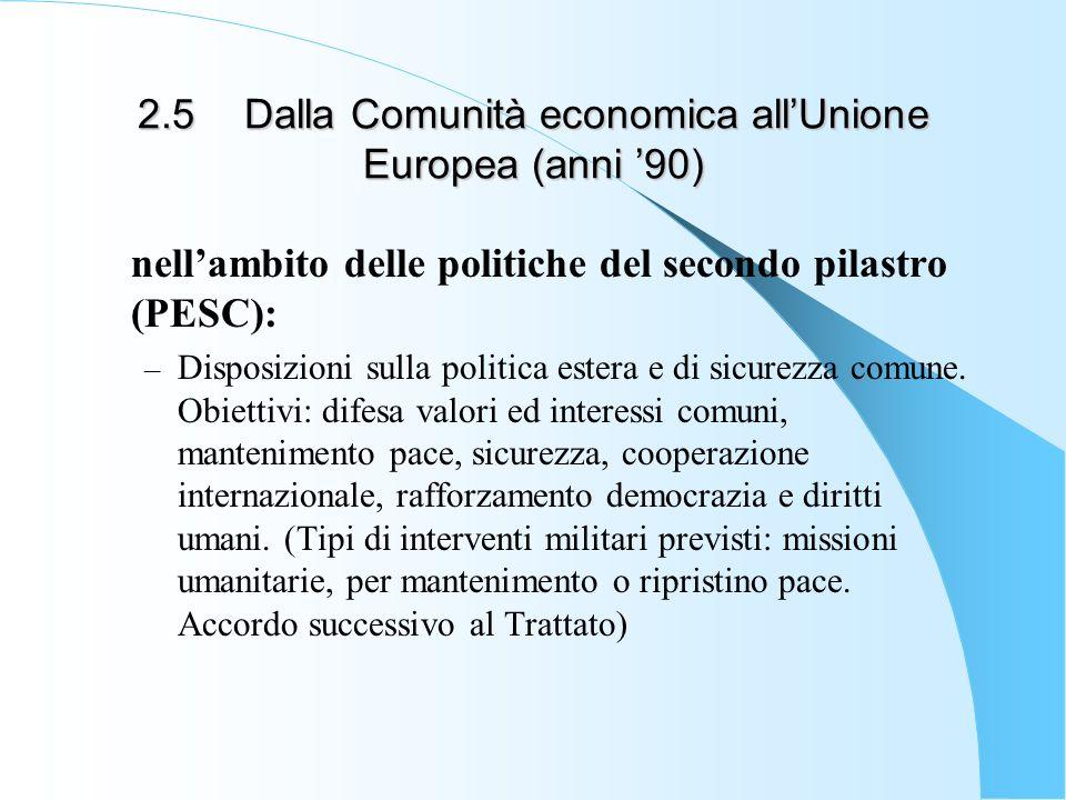 2.5 Dalla Comunità economica all'Unione Europea (anni '90)