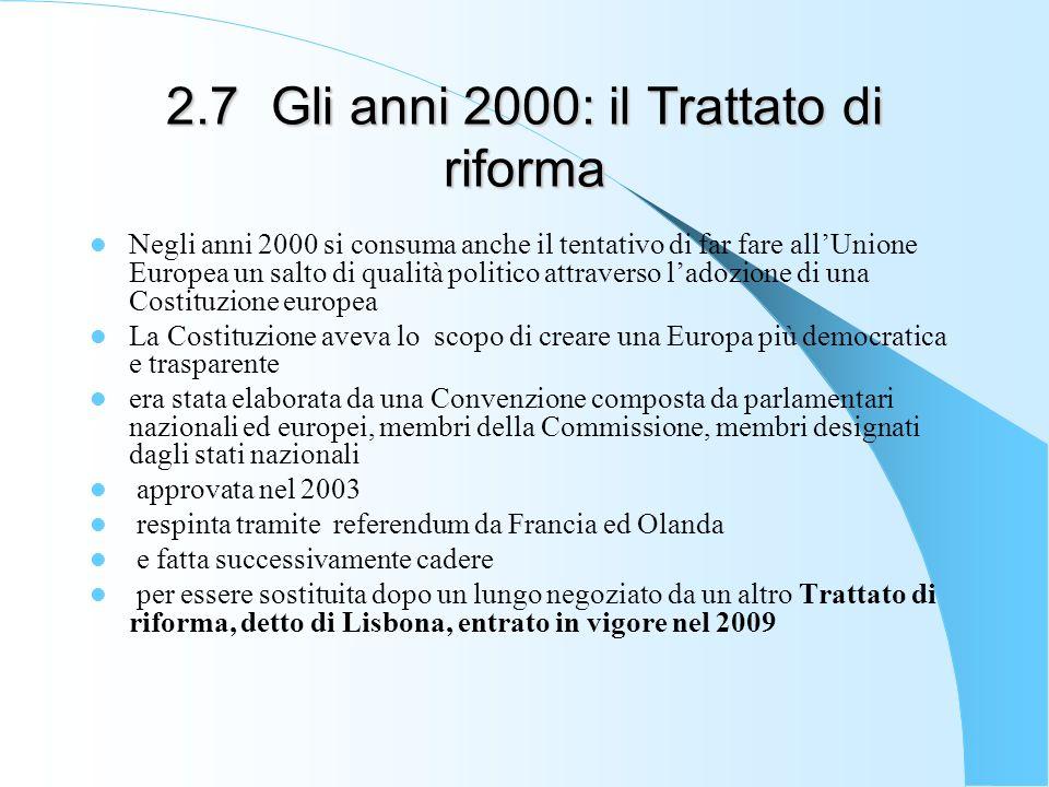 2.7 Gli anni 2000: il Trattato di riforma