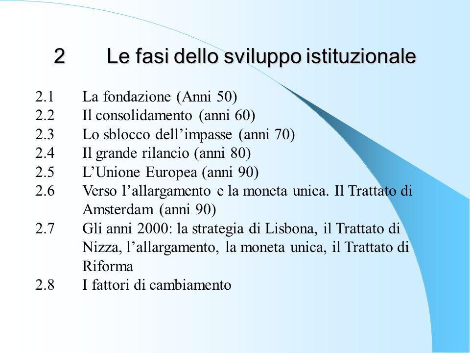 2 Le fasi dello sviluppo istituzionale