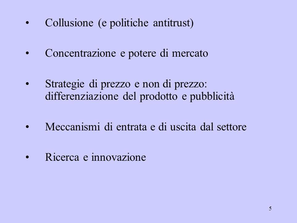 Collusione (e politiche antitrust)