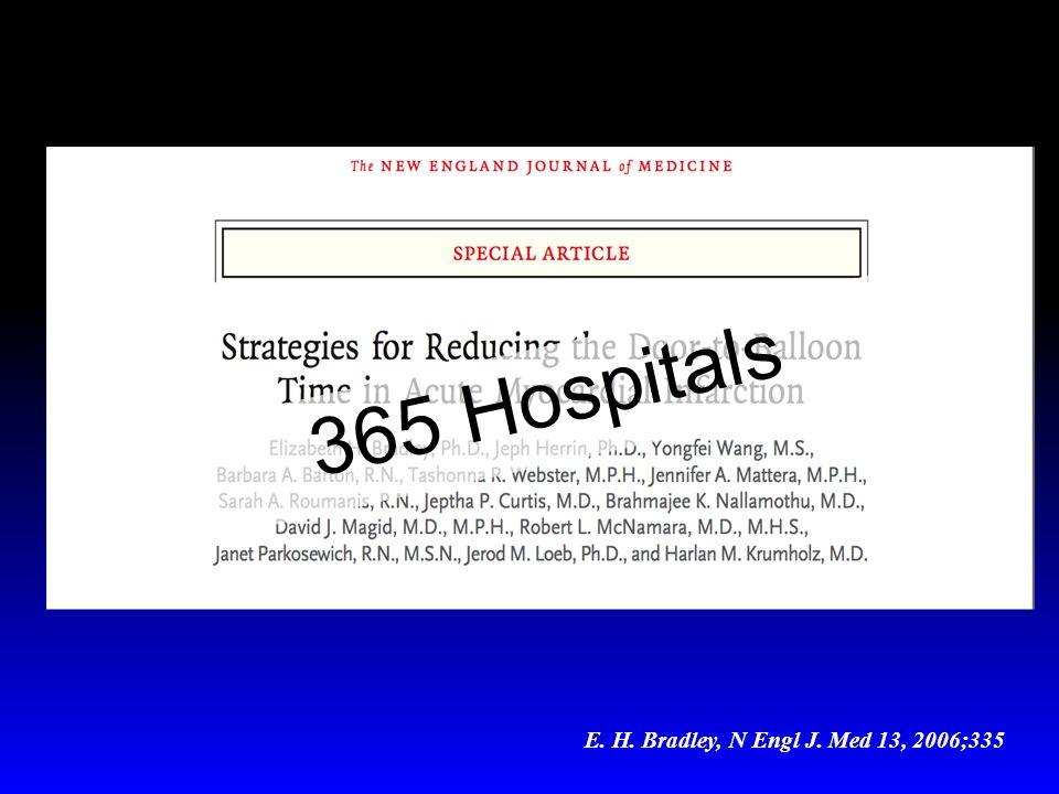 365 Hospitals E. H. Bradley, N Engl J. Med 13, 2006;335