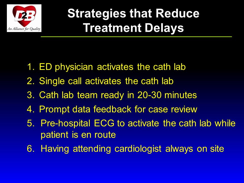 Strategies that Reduce Treatment Delays