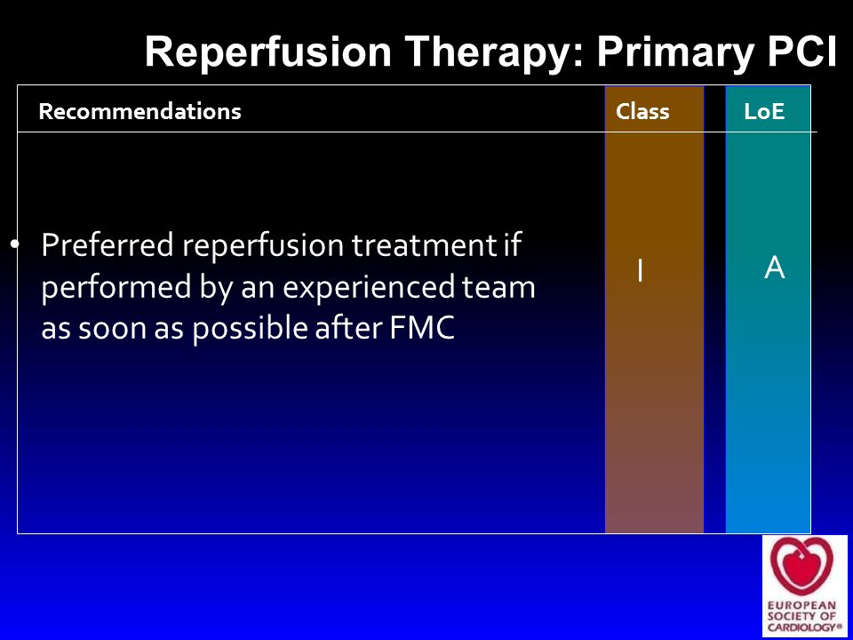 Reperfusion Therapy: Primary PCI
