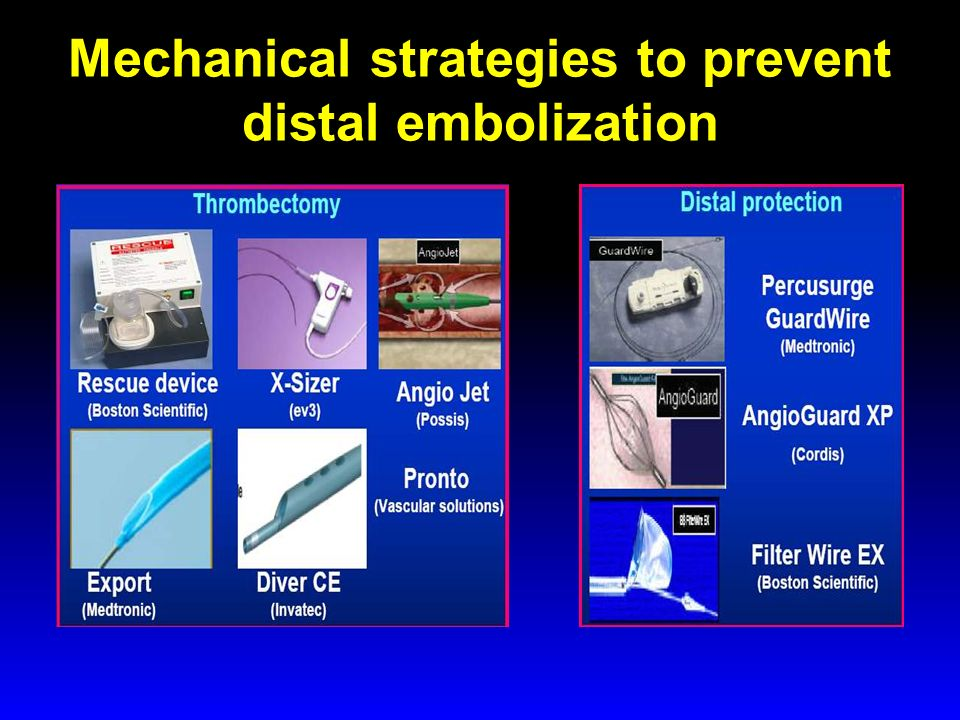 Mechanical strategies to prevent distal embolization