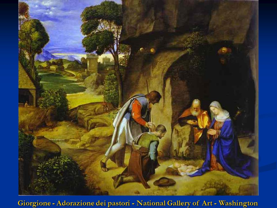 Giorgione - Adorazione dei pastori - National Gallery of Art - Washington