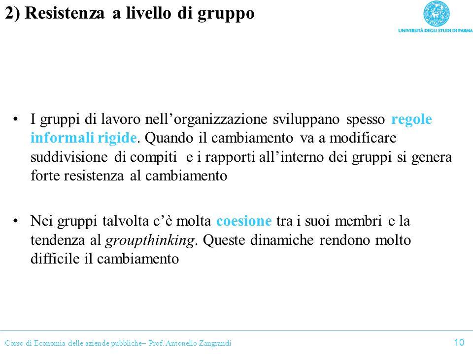 2) Resistenza a livello di gruppo
