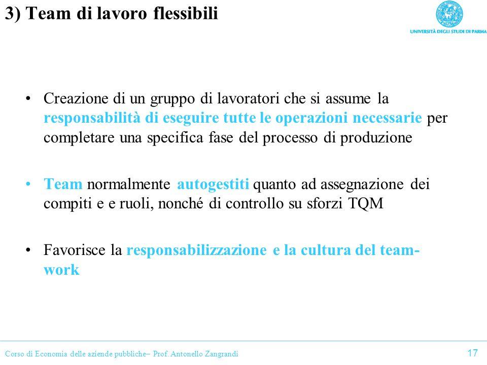 3) Team di lavoro flessibili