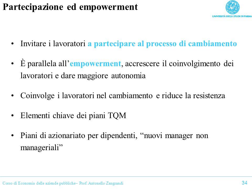 Partecipazione ed empowerment