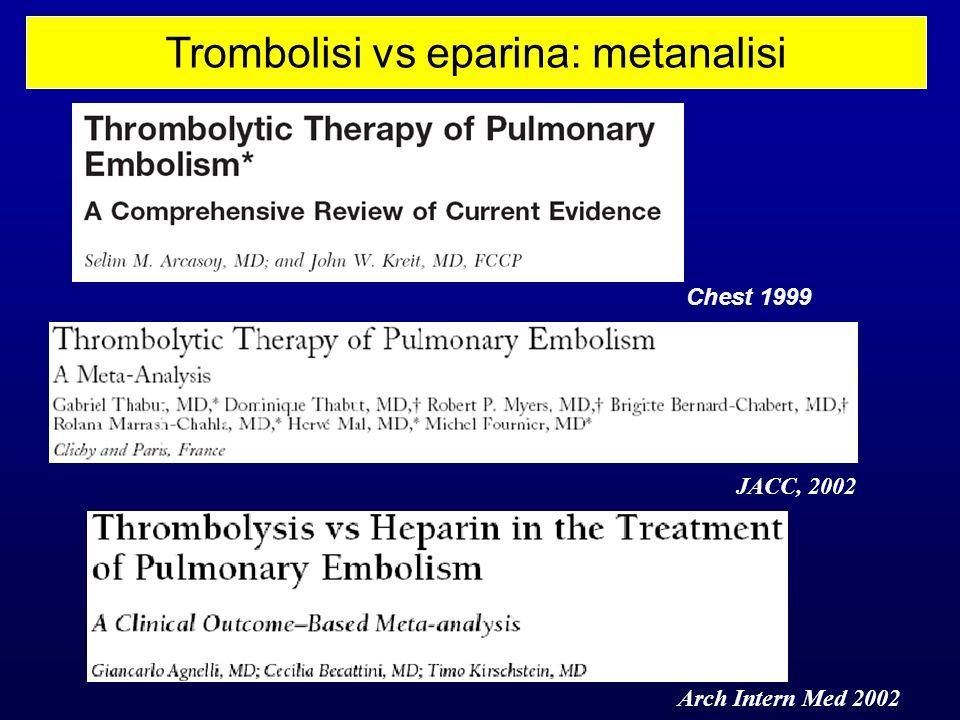 Trombolisi vs eparina: metanalisi