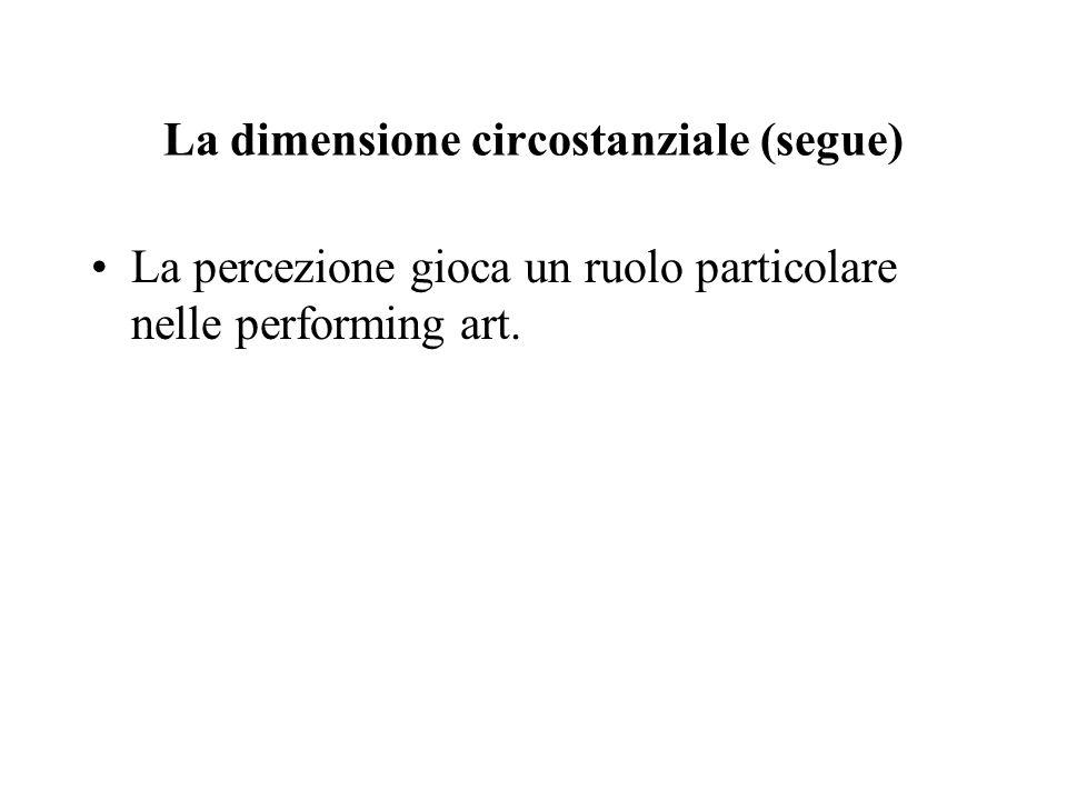 La dimensione circostanziale (segue)
