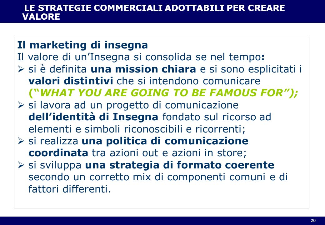 Il marketing di insegna